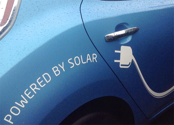 T'Sou-ke has its own solar-powered charging station for vehicles